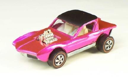 REDLINE HOT WHEELS 1968 ORIGINAL 16 CARS PINK CHEETAH PYTHON POSTER