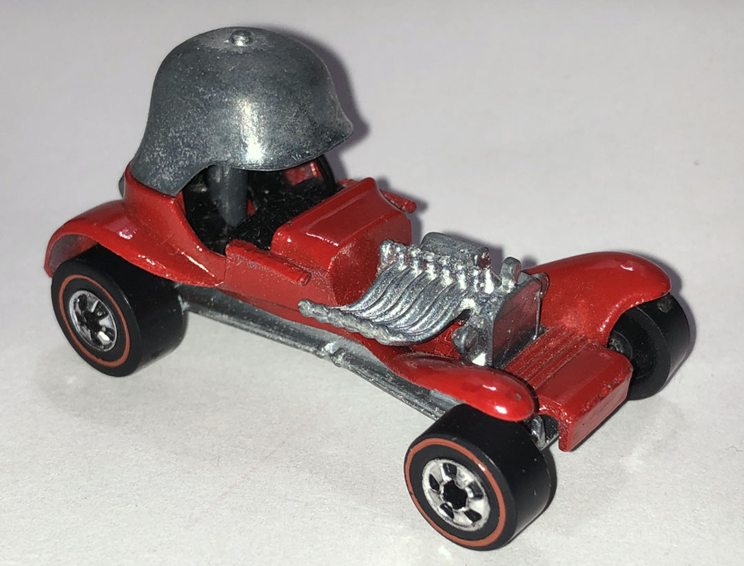 Vintage Hot Wheels Redline  Red Baron Red Line  Metallic Red  Made in Hong Kong  Issued 1970  All Original   Collectible  Very Clean